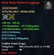 Feral Rime-Frosted Leggings