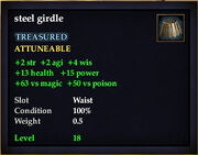 Steel girdle