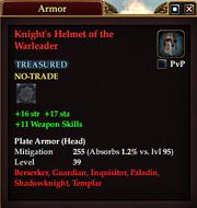 Knight's Helmet of the Warleader
