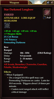 Star Darkened Longbow