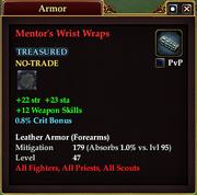 Mentor's Wrist Wraps