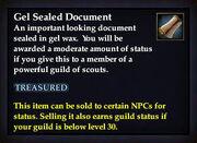 Gel Sealed Document