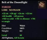 Belt of the Doomflight