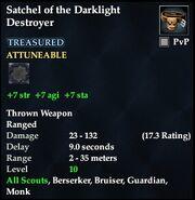 Satchel of the Darklight Destroyer