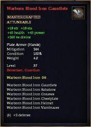 Warborn Blood Iron Gauntlets