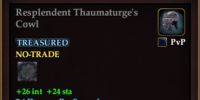 Resplendent Thaumaturge's Cowl