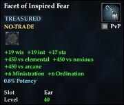 Facet of Inspired Fear