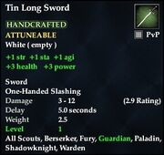 Tin Long Sword