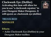 Clockwork Eye (Defiler)