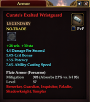 Curate's Exalted Wristguard