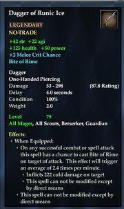 Dagger of Runic Ice