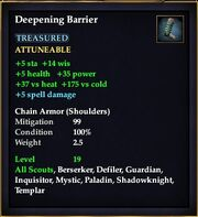 Deepening Barrier (Item)