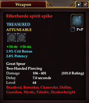 Etherhorde spirit spike