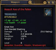 Assault Axe of the Fallen
