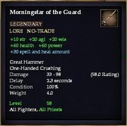 Morningstar of the Guard