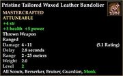 Tailored Waxed Leather Bandolier