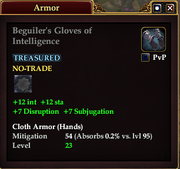 Beguiler's Gloves of Intelligence