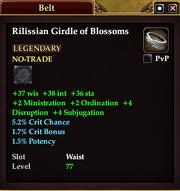 Rilissian Girdle of Blossoms