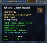 Bat Skull Charm Bracelet