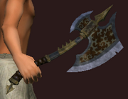 Fierce Lucanic Axeblade of Timelessness (Equipped)