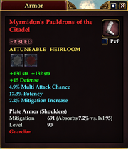 Myrmidon's Pauldrons of the Citadel