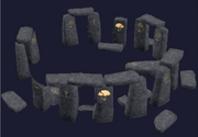 A black granite druid ring (Visible)