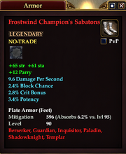 Frostwind Champion's Sabatons