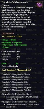 Darkbriar's Masquerade Gloves
