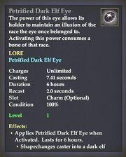 Petrified Dark Elf Eye