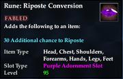 Rune- Riposte Conversion
