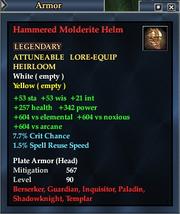 Hammered Molderite Helm