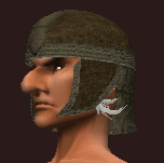 Woven Tanned Leather Skullcap (Equipped)
