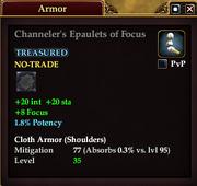 Channeler's Epaulets of Focus