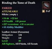 Binding the Tome of Death