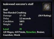 Teakwood sorcerer's staff