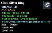 Sleek Silver Ring