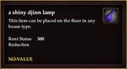 A shiny djinn lamp