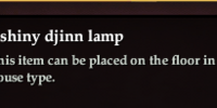 A shiny djinn lamp