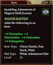 Sparkling Adornment of Magical Skill (Lesser)