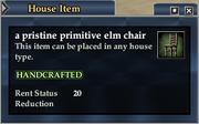 A pristine primitive elm chair