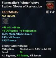 Stormcaller's Winter Weave Leather Gloves of Restoration
