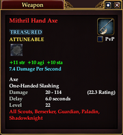 Mithril Hand Axe