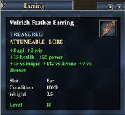 Vulrich Feather Earring