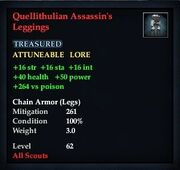 Quellithulian Assassin's Leggings