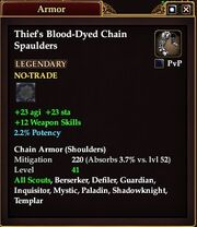Thief's Blood-Dyed Chain Spaulders