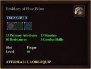 Emblem of Fine Wine
