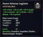 Frozen Halasian Legplates