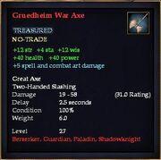 Gruedheim War Axe