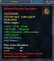 Polished Hoarite Spaulders