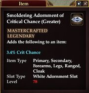 Smoldering Adornment of Critical Chance (Greater)